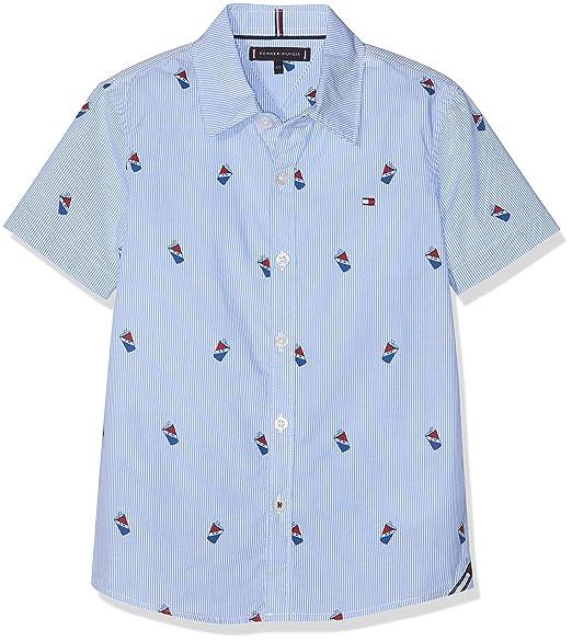 Tommy Hilfiger Mini Stripe Print Shirt S/S Blusa para Niños ...