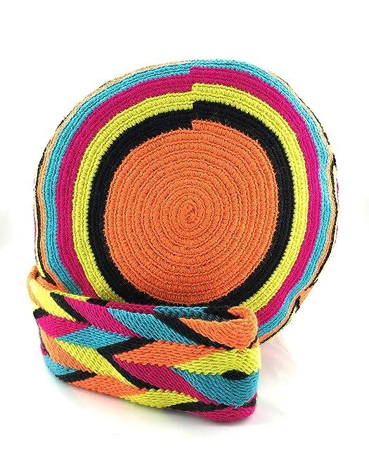 Amazon.com: Bolso colombiano, mochila Wayuu, 100% algodón ...