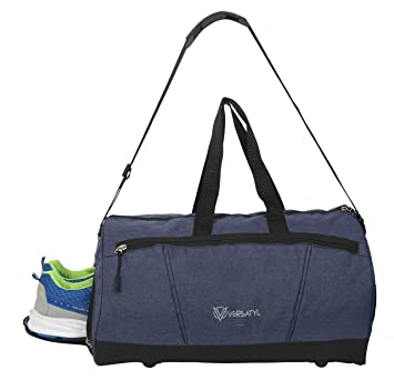 4f1058d6d99e VERSATYL Unisex Gym Duffel Bag with Shoe Compartment (Blue)  Amazon.in  Bags