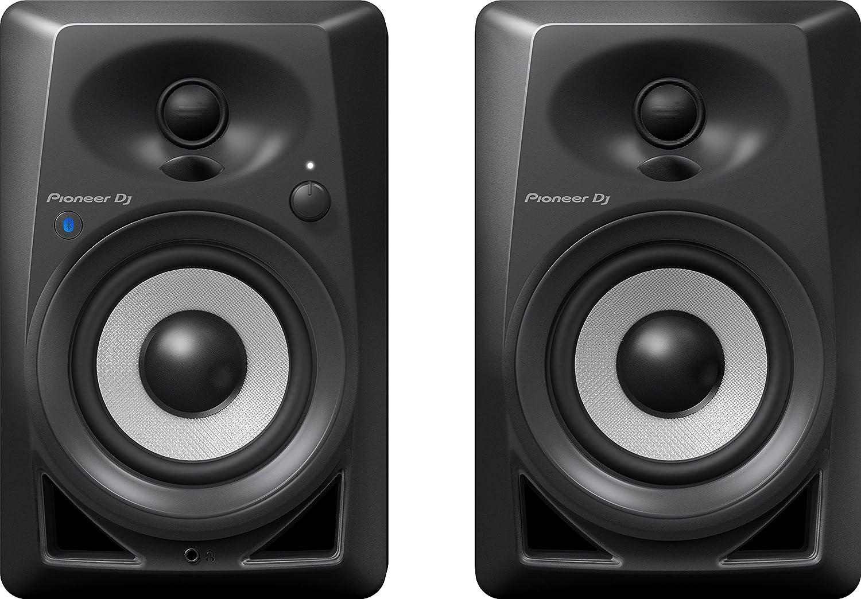 Pioneer DJ DM-40BT Bluetooth Desktop Monitors (Pair), Black Pioneer Pro DJ