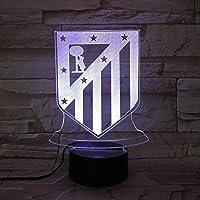 WoloShop Lampara LED Atlético de Madrid Cambia Color