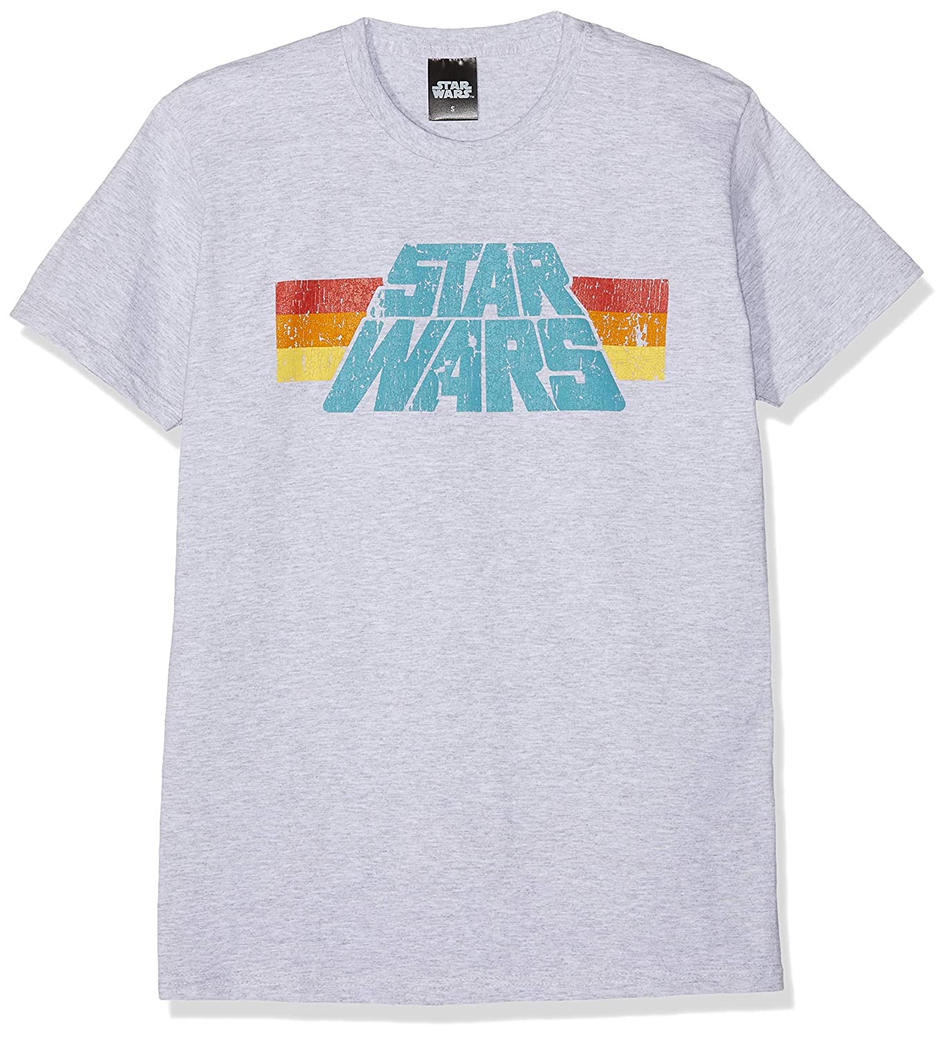 d97fcb69b Star Wars Vintage 77 T-Shirt Mottled Grey: Amazon.co.uk: Clothing