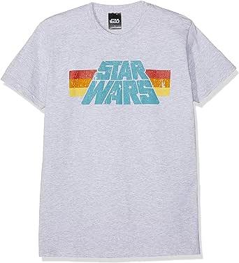 Star Wars Vintage 77 Hombre Camiseta Gris/Melé, Regular