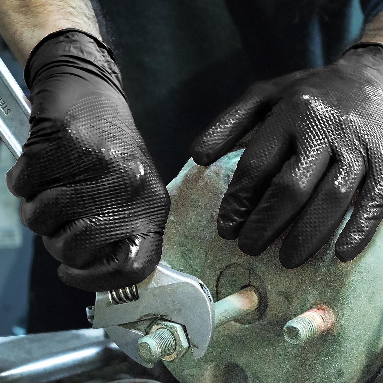 Black Ammex GWBN44100-BX disposable gloves Medium