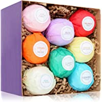 HanZá Bath Bombs - Gift Set Ideas - Gifts For Women, Mom, Girls, Teens, Her - Ultra Lush Spa Fizzies - Gift Ideas - Add to Bath Bubbles, Bath Beads, Bath Pearls & Flakes (8, Light Coloured)