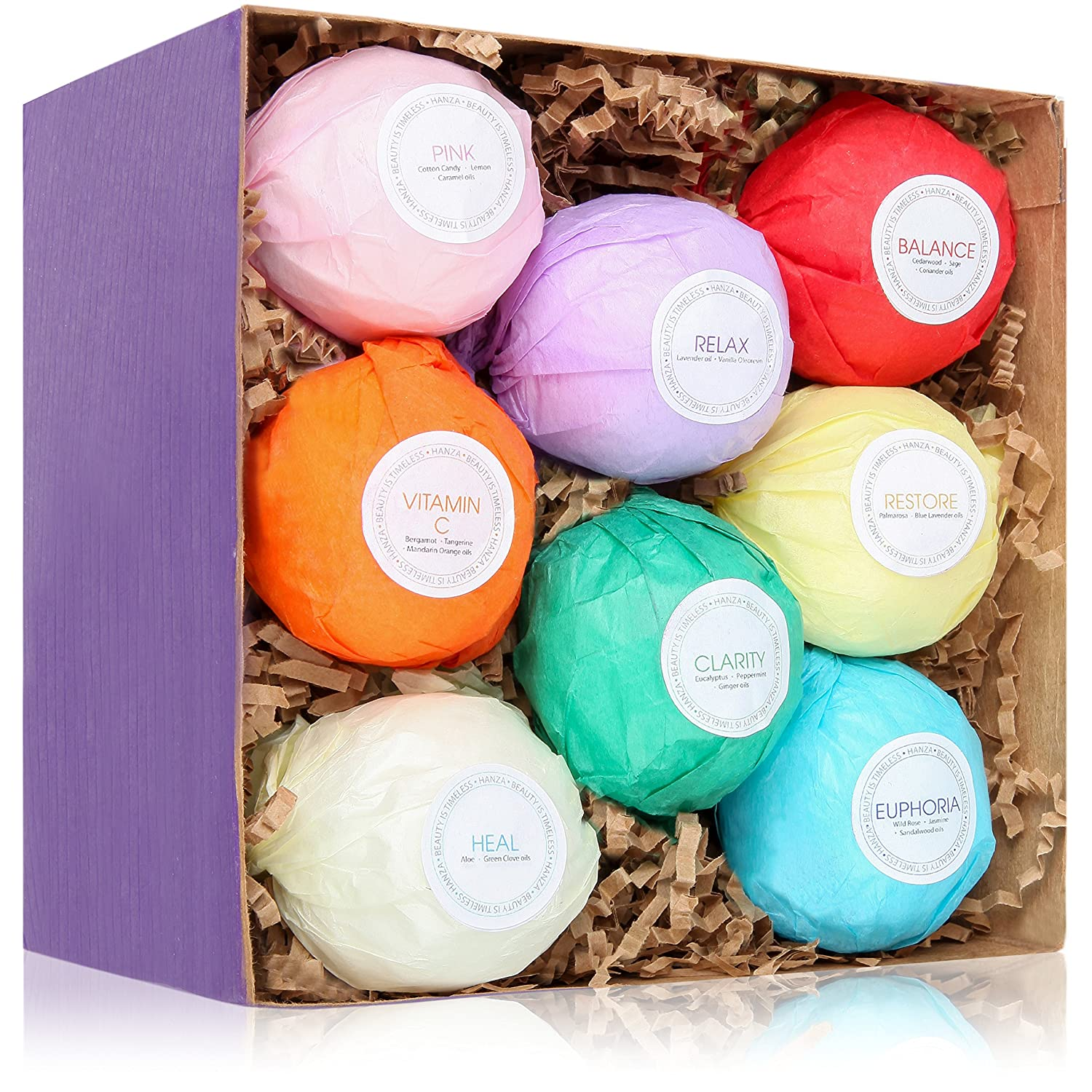 8 USA Made Bath Bombs Gift Set