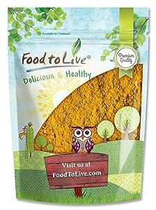Turmeric Powder, 1 Pound - Ground Turmeric Root, Kosher, Raw, Vegan, Sirtfood