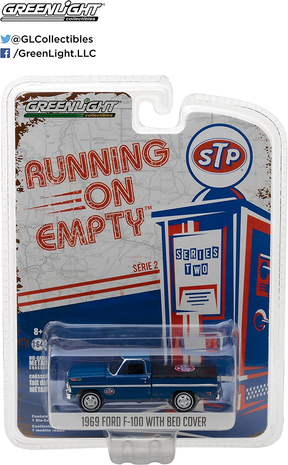 Greenlight 1969 Ford F-100 mit Bed-Cover Running on Empty Serie 1:64