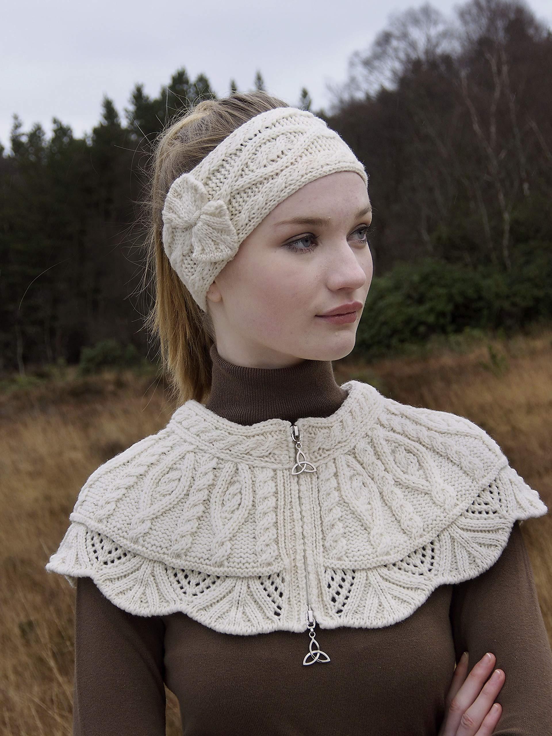 Aran Crafts Headband (100% Merino Wool) One Size Natural (X4341-NAT) by Aran Crafts Ireland (Image #2)
