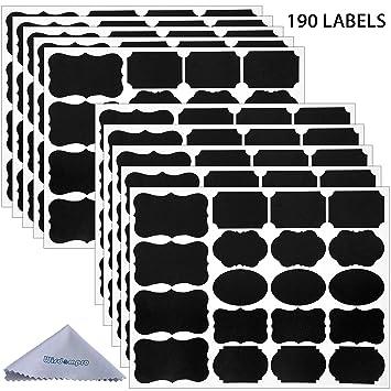 Amazon.com: Wisdompro - Etiquetas adhesivas para botellas de ...