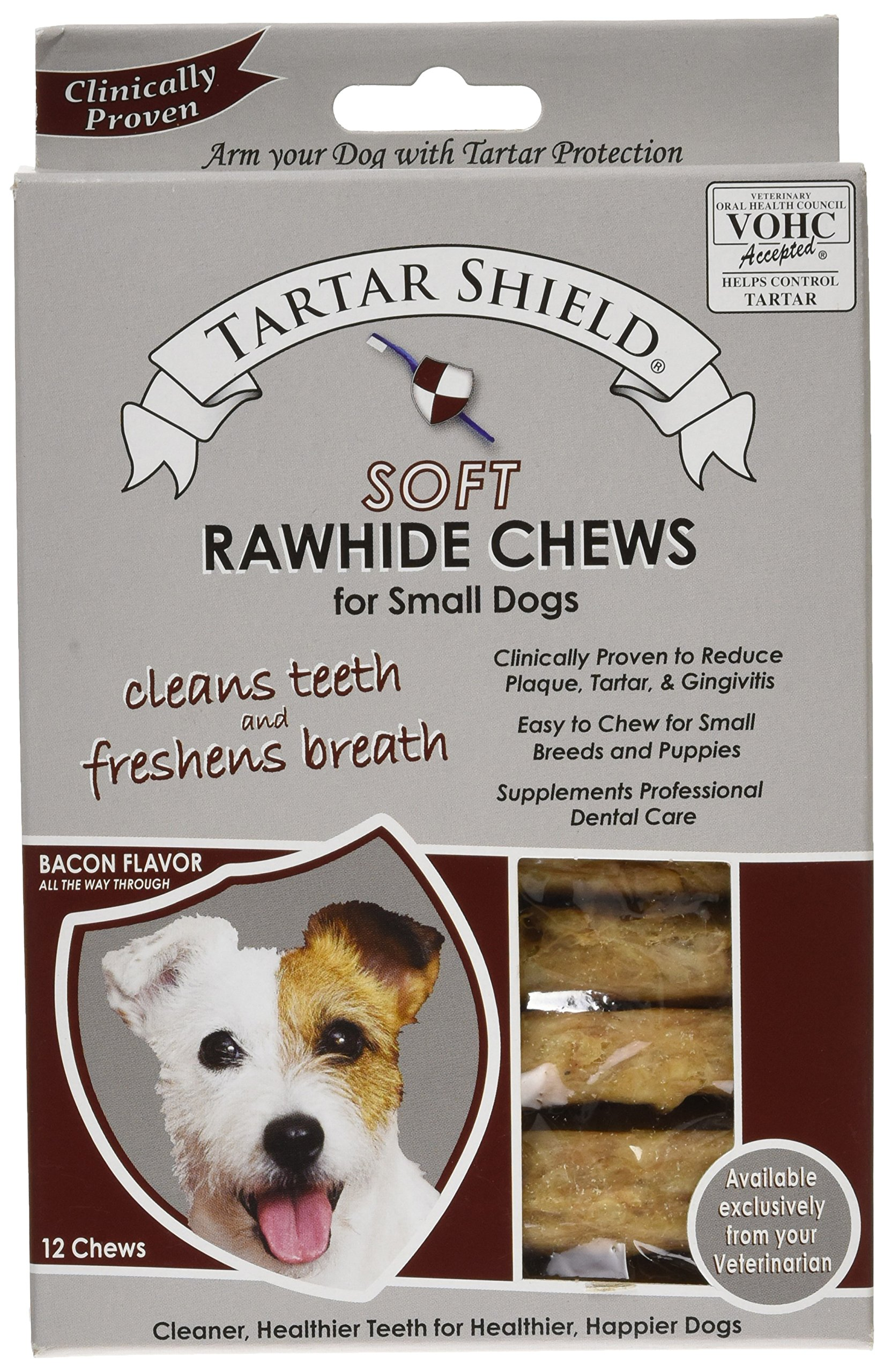 Tartar Shield Soft Rawhide Chews for Small Dogs