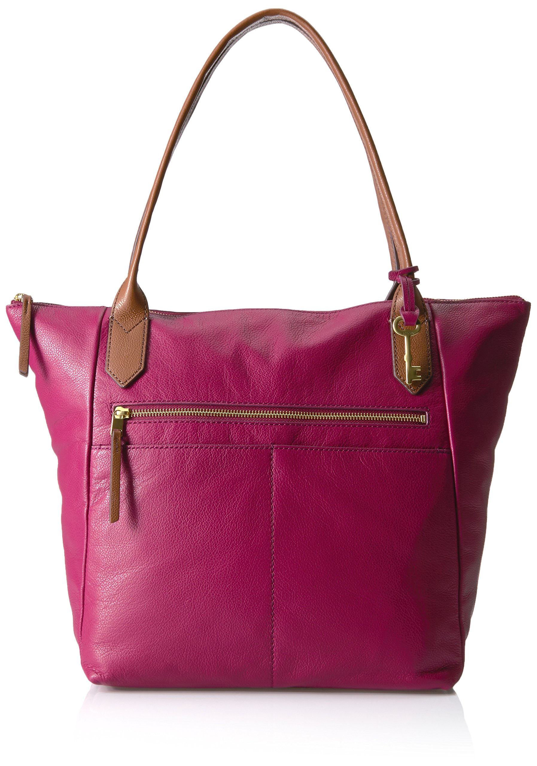 Fossil Fiona Tote Bag, Raspberry Wine