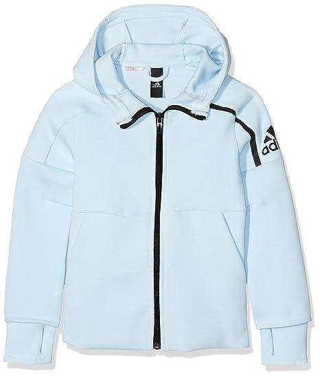 adidas Mädchen Z.N.E. Hoody Ice BlueBlack 140: