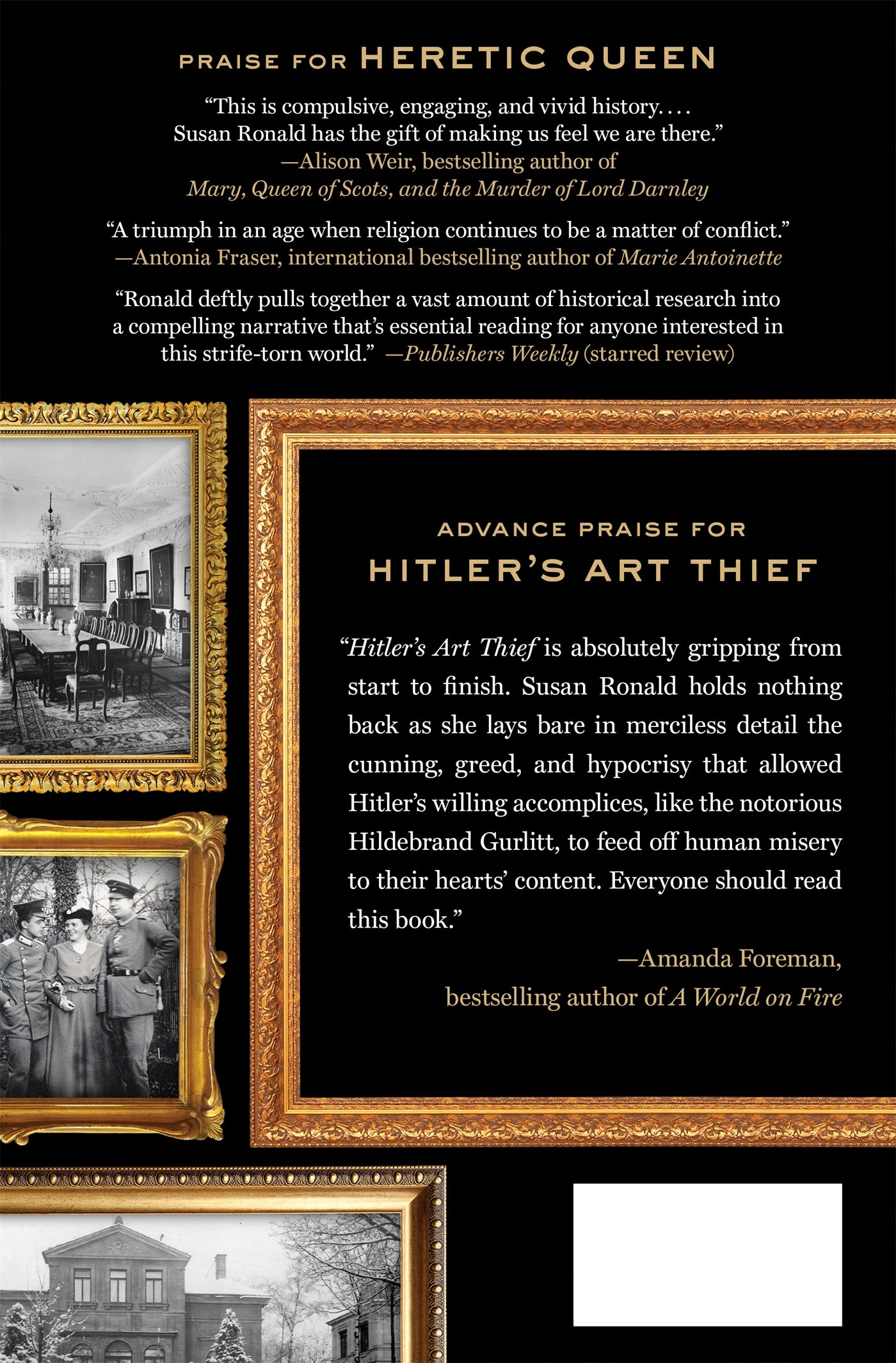 Amazon: Hitler's Art Thief: Hildebrand Gurlitt, The Nazis, And The  Looting Of Europe's Treasures (9781250061096): Susan Ronald: Books