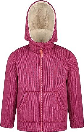 Winter Mountain Warehouse Maple Kids Fur Lined Hoodie Lightweight Sweater Front Pockets Jumper Best for Autumn Full Zip Childrens Hoody Sweatshirt