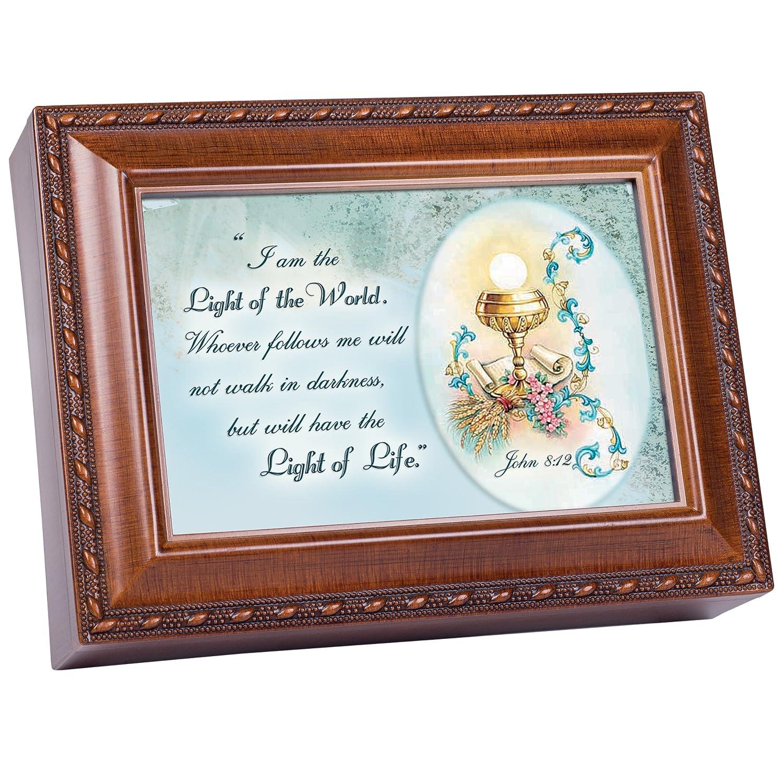 【予約販売品】 I Am The Light and the Truth Cottage and Light Garden木目仕上げ音楽ジュエリーボックス Ave – Plays Song Ave Maria B00MHWU6MQ, 【株】丸十人形工房 人形と結納:2c444bea --- arcego.dominiotemporario.com