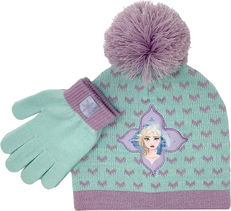 Girls Frozen Elsa Knitted Winter Beanie Hat