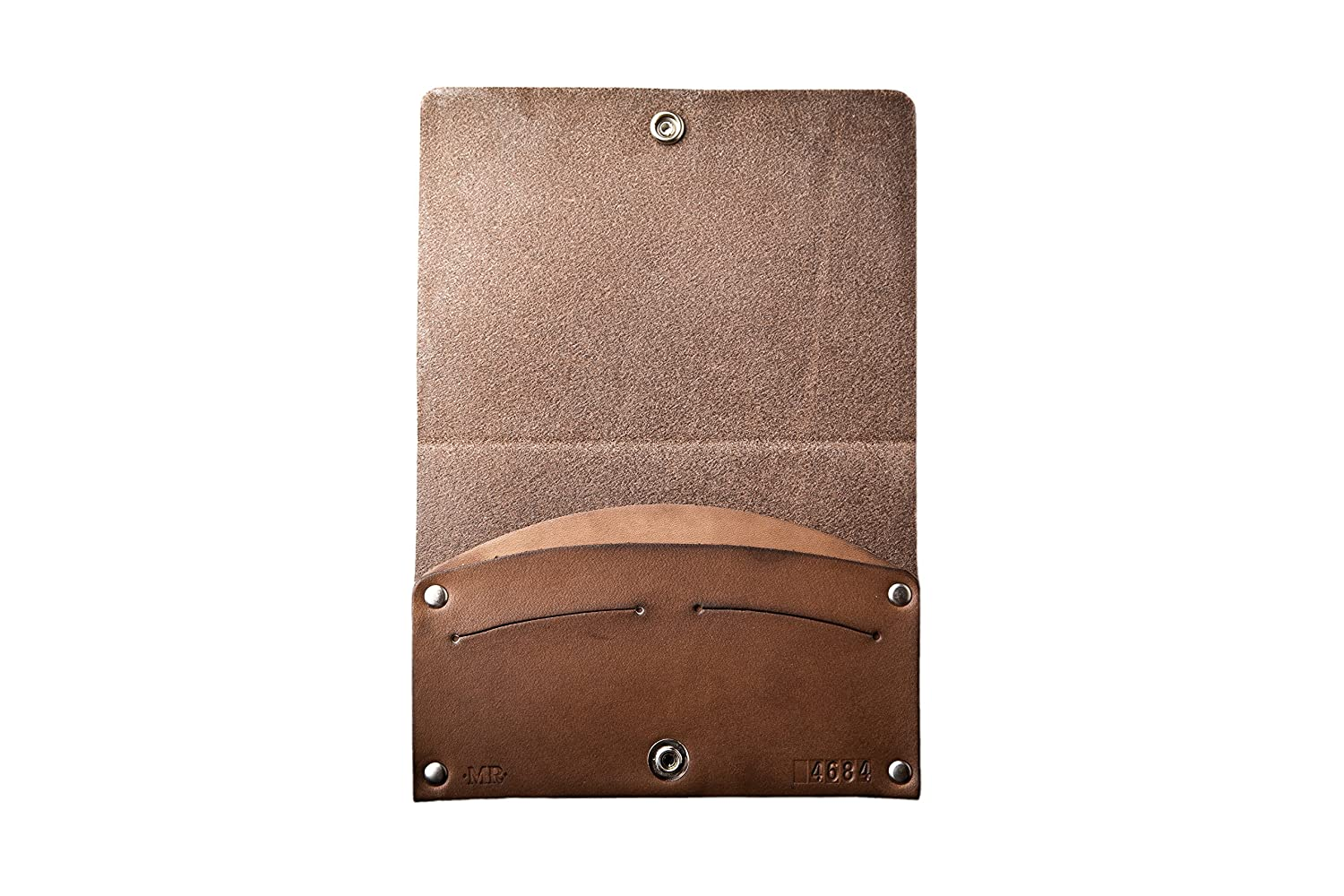 Mr Lentz Personalized Leather Passport Case With Snap Closure