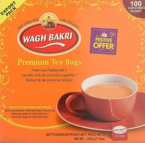 wagh bakri Premium bolsas de té 100 bolsas: Amazon.com ...