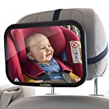 Sunferno Baby Car Mirror | Shatterproof, No Assembly Required, Adjustable | Rear Facing Car Seat Mirror for Effortlessly Moni