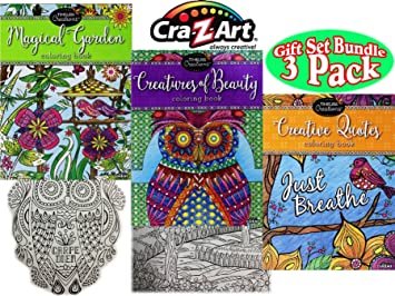 Timeless Collections Creatures Of Beauty Magical Garden Creative Quotes Premium 64 Page Adult Coloring
