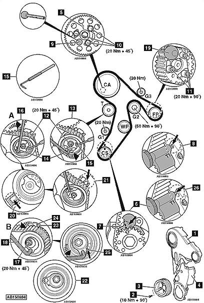 Audi VW VAG 1.6L 2.0L TDI MOTOR herramienta de ajuste de bloqueo del árbol de levas cigüeñal Timing: Amazon.es: Coche y moto
