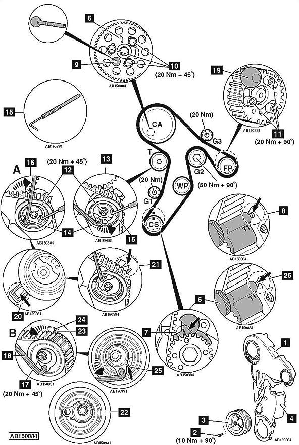 Audi Vw Vag 1 6l 2 0l Tdi Engine Camshaft Crankshaft Timing Lock