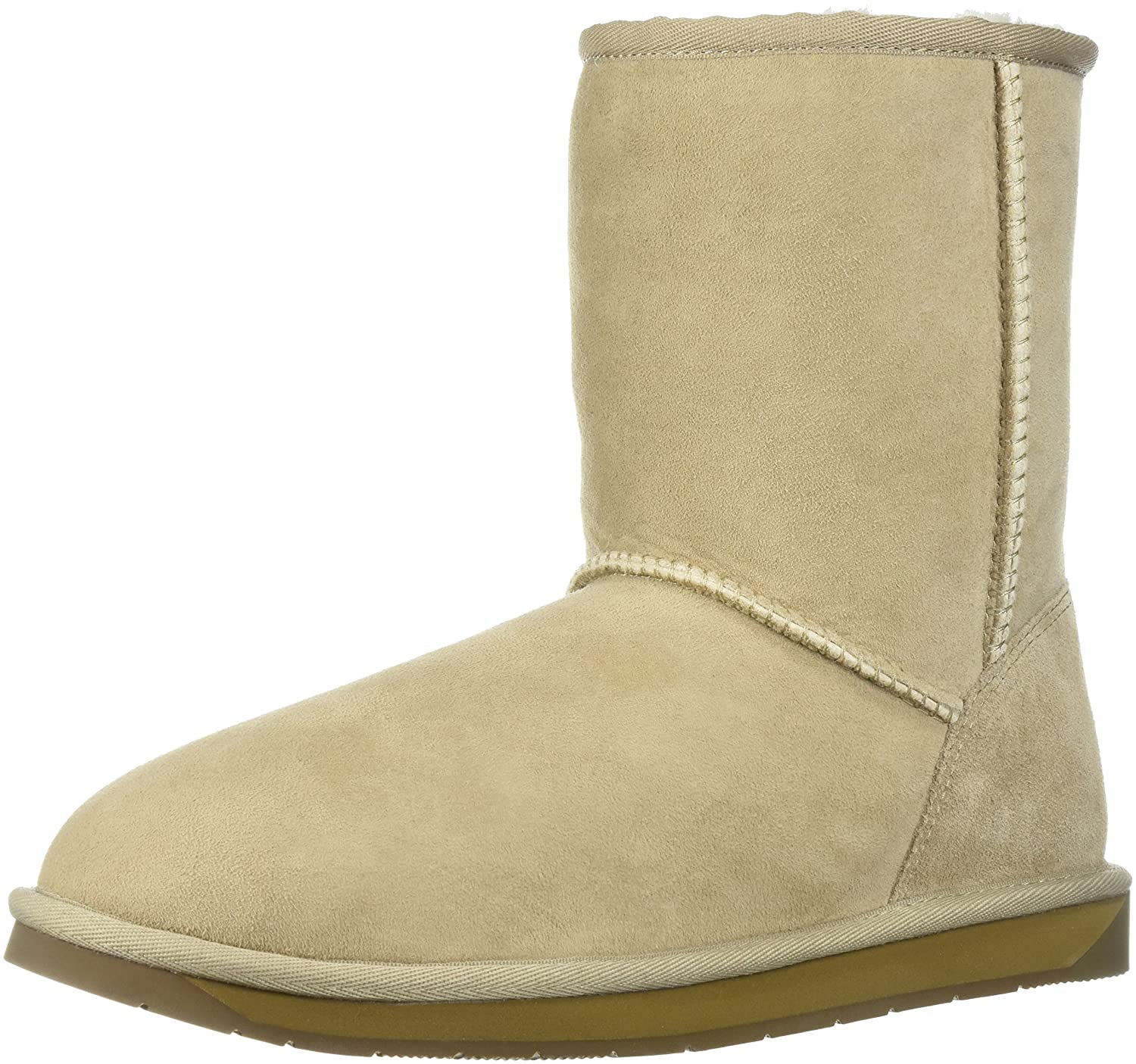 206 Collective Women's Balcom Short Back-Zip Shearling Ankle Boot B0746MC541 11 B(M) US|Sand Suede