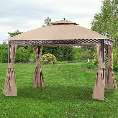 Garden Winds Replacement Canopy for The Pinehurst Dome Gazebo - Riplock 350 - Beige - Will NOT FIT Oakmont Gazebo : Garden & Outdoor