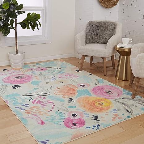 Mohawk Home Watercolor Floral Multi Area Rug 3 X5 Furniture Decor