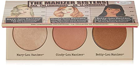 Manizer Sisters Palette, Multi-Tasking Highlighters, Shimmers, Shadows