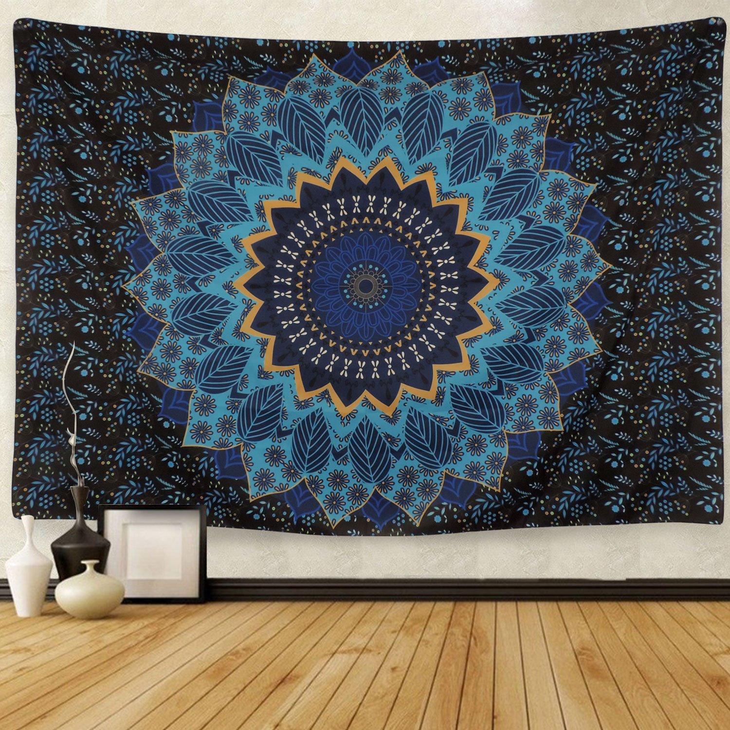 Tapestry Wall Hanging Tapestries Blue Star Hippie Tapestry Hippy Mandala Bohemian Tapestries Indian Dorm Decor Psychedelic Tapestry Wall Hanging Ethnic Decorative Hippie Tapestry