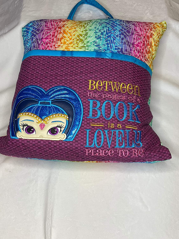 Blue Genie Book Pillow-Reading Pillow