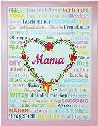 AnneSvea MAMA A3 Muttertag Geburt Poster Druck Geschenk Babyshower Babyparty Hochzeit Mothersday Danke Mitbringsel Schwiegermutter