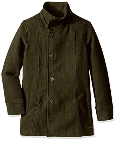 Amazon.com : prAna Men's Winter Pea Coat, X-Large, Dark Green ...