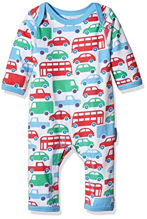 0f3d5b5776a85 Toby Tiger Baby Boys 0-24m Super Soft Transport Printed Sleepsuit Romper,  Multicoloured (