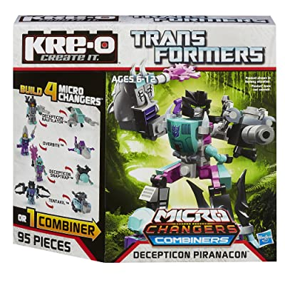 KRE-O Transformers Micro-Changers Combiners Decepticon Piranacon Construction Set (A4475): Toys & Games