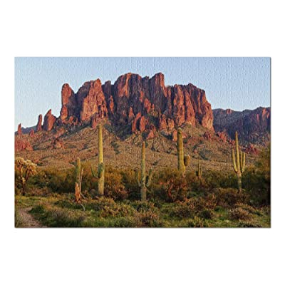 Arizona - The Superstition Mountains & Saguaros at Lost Dutchman State Park 9027247 (Premium 1000 Piece Jigsaw Puzzle for Adults, 20x30, Made in USA!): Toys & Games