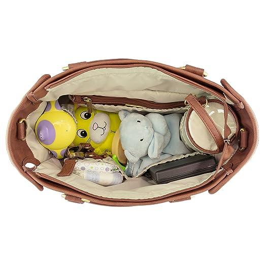 Amazon.com: Timi & Leslie Dawn Diaper Bag Set - Caramel: Sports & Outdoors