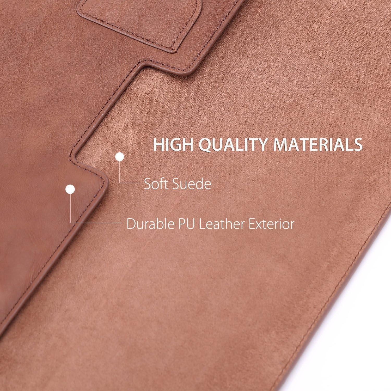 Braun PU Leder Tasche Nubuck Fibre Interior Notebooktasche Schutzh/ülle Wallet Case Leather Sleeve mit Karten-Slot f/ür MacBook Air 13.3 // MacBook Pro 13.3 2017//2016 MoKo 13.3 Zoll Laptop H/ülle