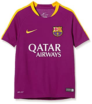 Nike Fcb Flash B Ss Top - Camiseta Fútbol Club Barcelona 2015/2016 para niño, color fucsia, talla M: Amazon.es: Deportes y aire libre