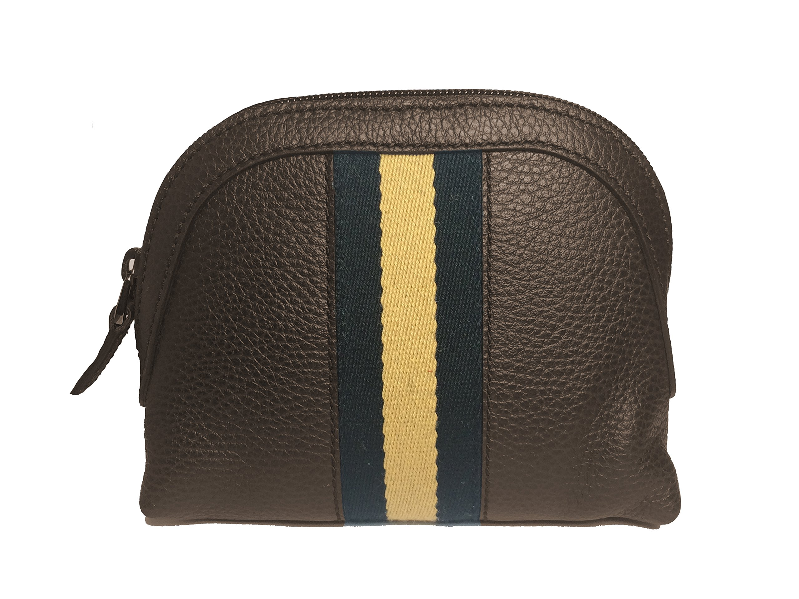 Gucci Women's Web Brown Leather Cosmetic Case 339558 2064
