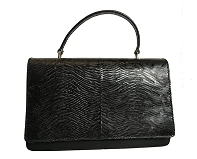 8f660d3b7535 Image Unavailable. Image not available for. Color  Prada Black Reptile  Leather and Nylon Designer Crossbody Bag ...