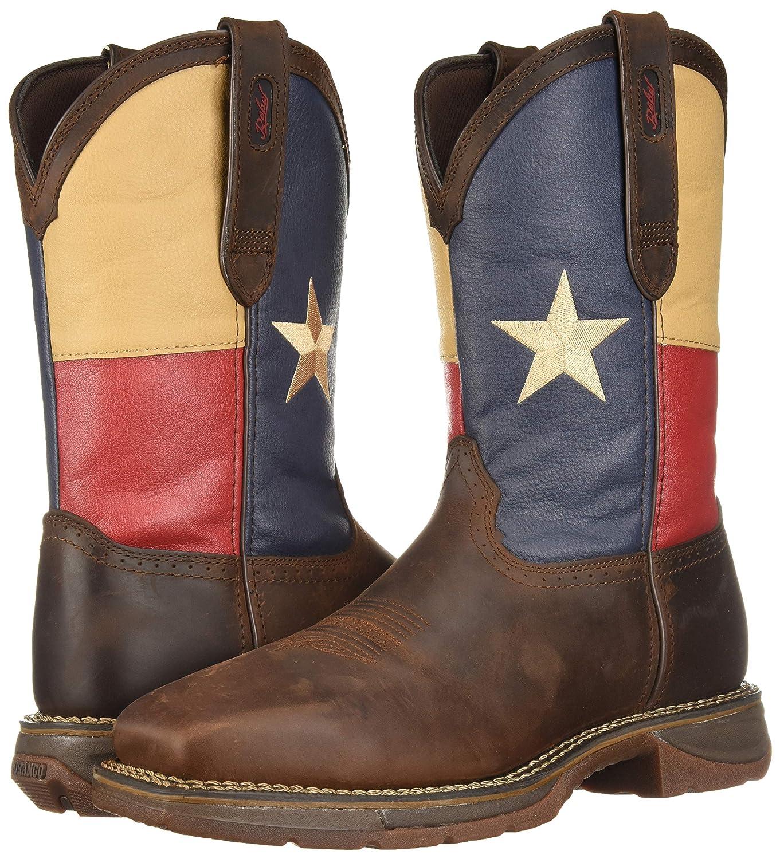 11 W US Durango Mens DB021 Western Boot Dark Brown//Texas Flag