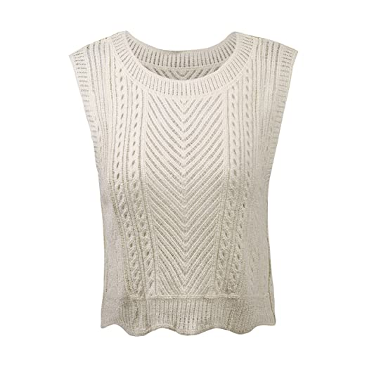 Women Casual Sleeveless Vest Crochet Knit Camisole Tank Top Short