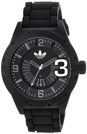 adidas Unisex ADH2963 Black Watch With Black Silicone Band