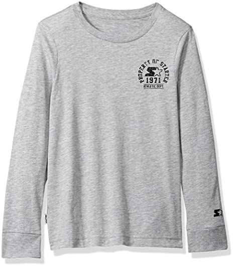 66222285 Starter Boys' Long Sleeve Distressed Chest Logo T-Shirt, Amazon Exclusive,  Vapor