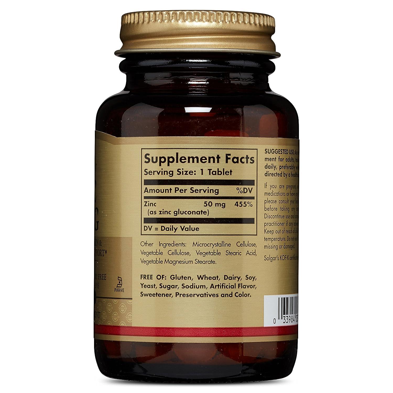 Amazon Com Solgar Zinc 50 Mg 100 Tablets Health Personal Care