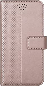 "VEST Universal Radiation Blocking Wallet case for 5.5"" to 6"" Phones Screens Compatible iPhone Android Samsung OnePLUS LG etc. (Rose Gold)"
