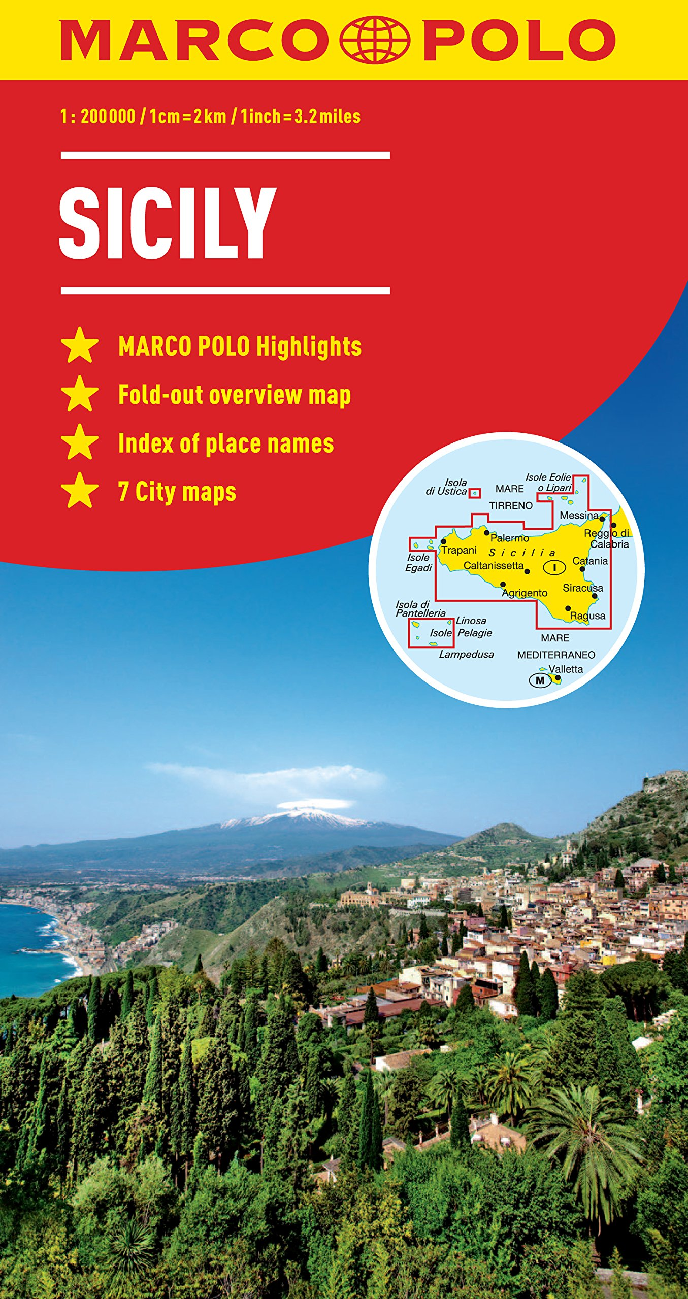 c882991f4ede Sicily Marco Polo Map (Marco Polo Maps)  Amazon.co.uk  Marco Polo ...